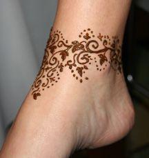 Simple Ankle Henna Tattoos 13529 Loadtve