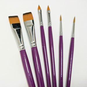 Basic Face Paint Brushes